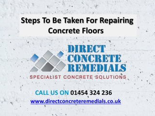 Steps To Be Taken For Repairing Concrete Floors