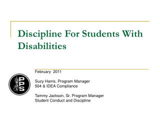 Discipline For Students With Disabilities
