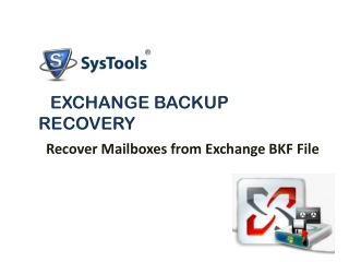 Exchange Backup Repair Software