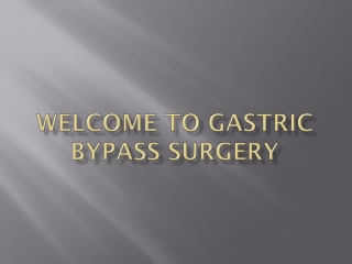 Bariatric Surgery: Weight Loss Surgery Options