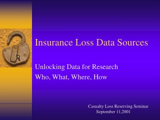Insurance Loss Data Sources