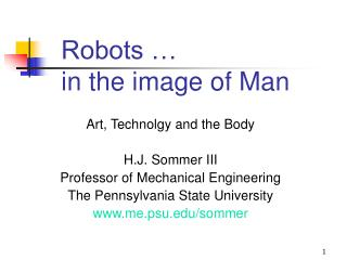 Robots … in the image of Man