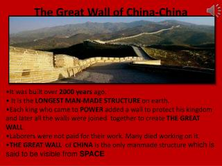 The Great Wall of China-China