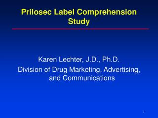 Prilosec Label Comprehension Study