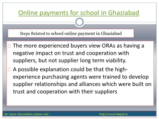 we provide online payment for school in Ghaziabad