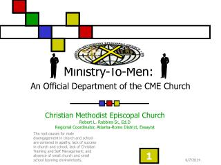 Ministry-To-Men: An Official Department of the CME Church