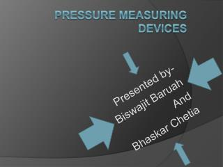 Pressure Measuring DEVICES