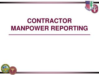 CONTRACTOR MANPOWER REPORTING