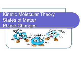 Kinetic Molecular Theory States of Matter Phase Changes