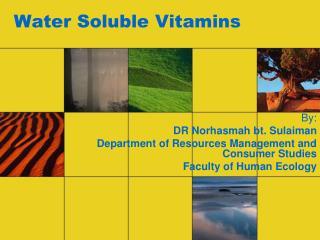 Water Soluble Vitamins