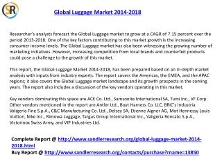 Global Luggage Market Forecasts 2014-2018