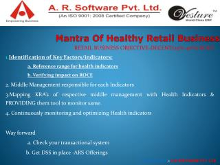 Mantra Of Healthy Retail Business
