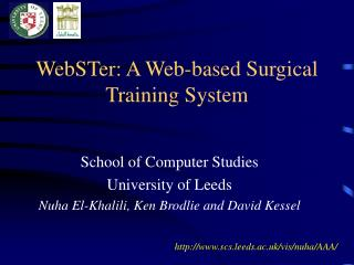 WebSTer: A Web-based Surgical Training System