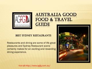 Choose Best Sydney City Restaurant