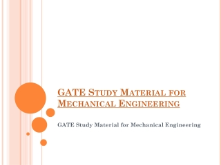 GATE coaching for Mechanical engineering