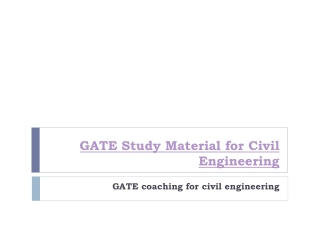 GATE Study Material for Civil Engineering