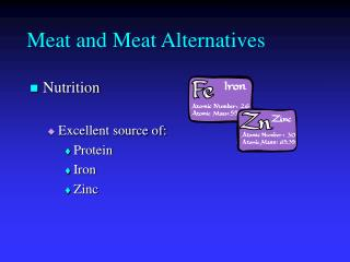 Meat and Meat Alternatives