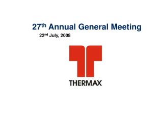 27 th  Annual General Meeting