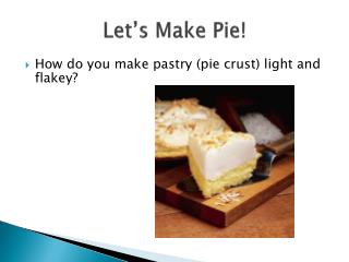Let s Make Pie