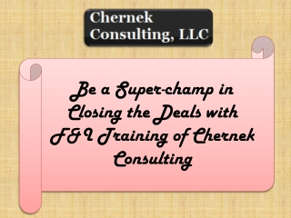 Be a Super-champ in Closing the Deals