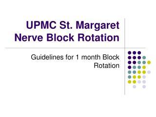 UPMC St. Margaret Nerve Block Rotation