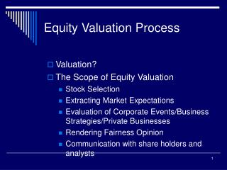 Equity Valuation Process