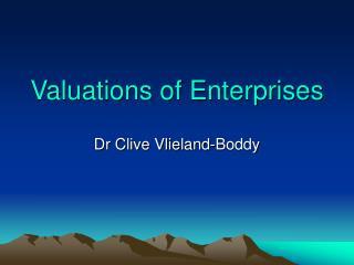 Valuations of Enterprises