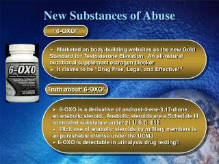 New Substances of Abuse