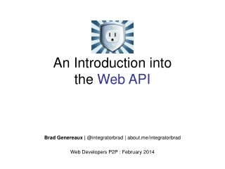 An Introduction into the Web API