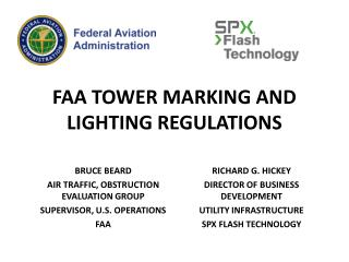 FAA TOWER MARKING AND LIGHTING REGULATIONS