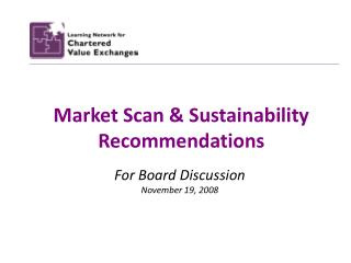 Market Scan & Sustainability Recommendations