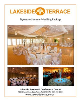 Signature Summer Wedding Package