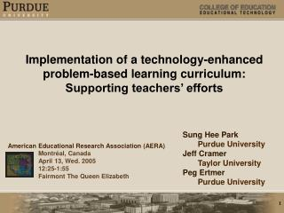 Implementation of a technology-enhanced  problem-based learning curriculum: Supporting teachers  efforts