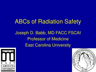 ABCs of Radiation Safety