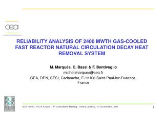 RELIABILITY ANALYSIS OF 2400 MWTH GAS-COOLED FAST REACTOR NATURAL CIRCULATION DECAY HEAT REMOVAL SYSTEM