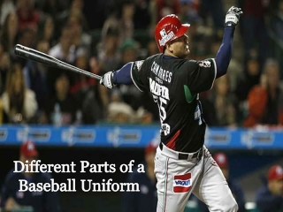 Different parts of a baseball uniform