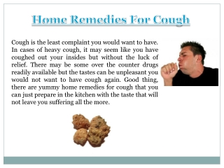 Home Remedies For Toddler Cough