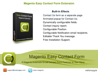 Magento Contact Form Extension,Magento Extension - Velanapps