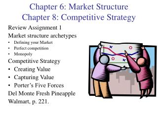 Chapter 6: Market Structure Chapter 8: Competitive Strategy