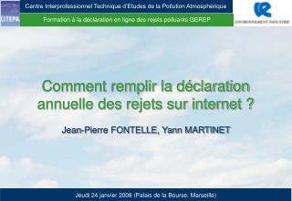 Formation à la déclaration en ligne des rejets polluants GEREP