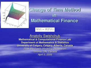 Change of Time Method in Mathematical Finance