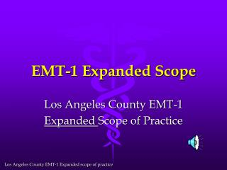 EMT-1 Expanded Scope