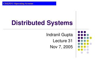 Distributed Systems