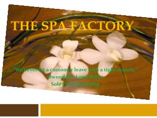 The Spa Factory