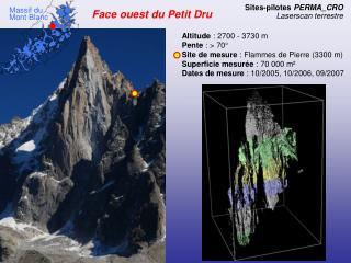 Face ouest du Petit Dru