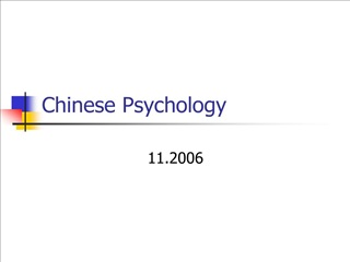 chinese psychology