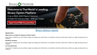 Binary Options Trading | Binary options brokers