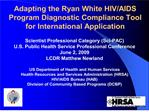 adapting the ryan white hivaids program diagnostic compliance ...