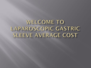 Laparoscopic gastric sleeve average cost