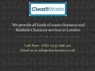 Rubbish Collection London